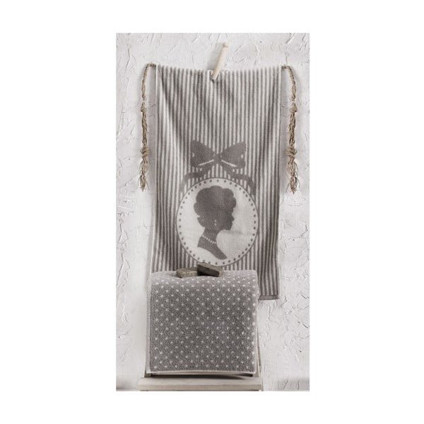 Sada uteráka a osušky Bouguet Madam Stone, 50x90 cm a 90x145 cm