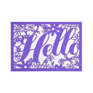 Sada 10 komplimentiek s obálkami Portico Designs FOIL Floral Hello