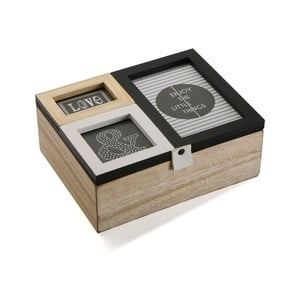 Drevený box s fotorámami Versa Erling