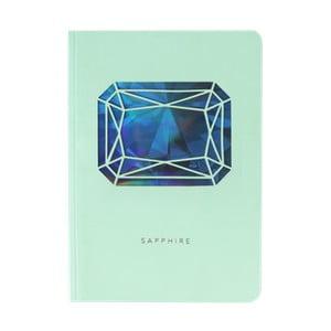 Zápisník A6 Portico Designs Safír, 160stránok