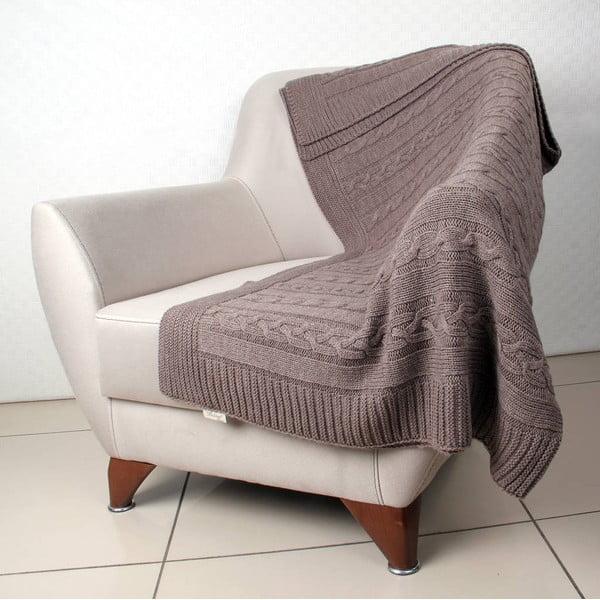 Běžová deka Homemania Marina, 170 x 130 cm