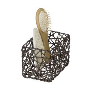 Hnedý kúpeľňový košík Wenko Curly