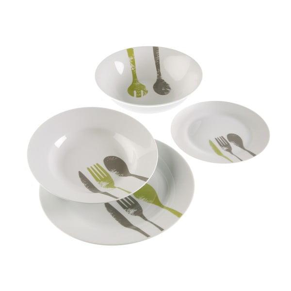 Set kuchynského riadu Green Cutlery, 19 ks