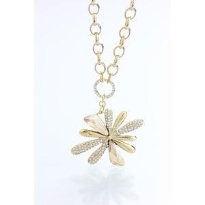 Pozlátený náhrdelník s krištáľmi Swarovski Elements Laura Bruni Kvetina