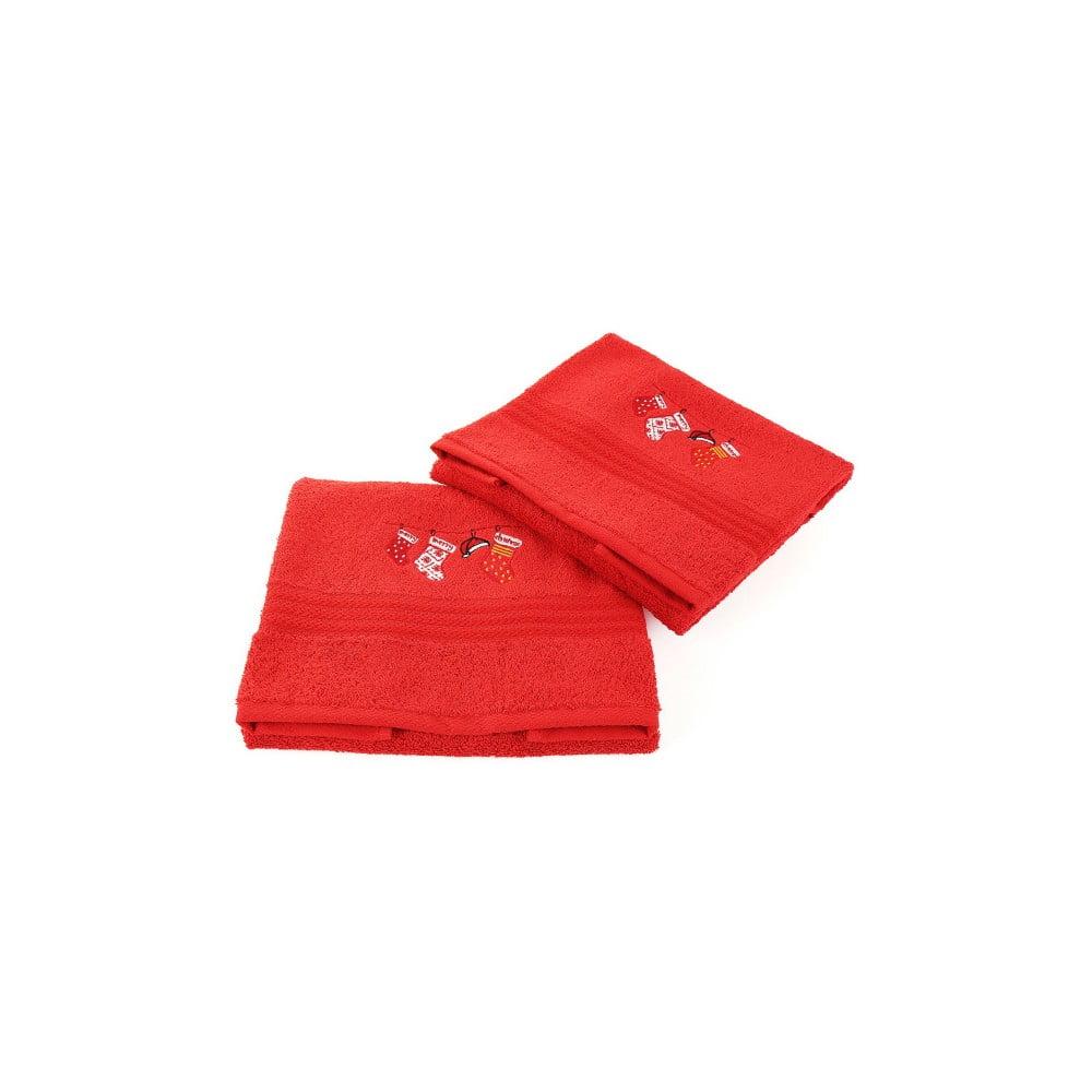 Sada 2 uterákov Corap Red Socks, 50x90 cm