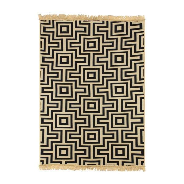 Tmavomodrý koberec Ya Rugs Kare, 120x180cm