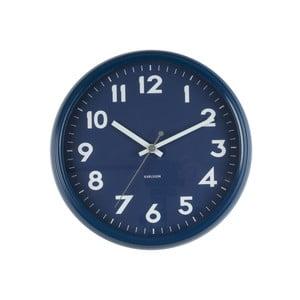 Modré hodiny Present Time Badge