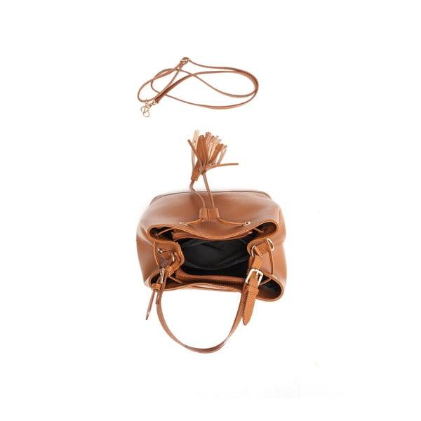 Kožená kabelka Renata Corsi 430 Cognac