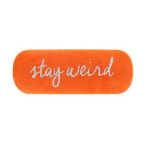 Oranové puzdro na okuliare Statement Pieces Stay Weird, 17 x 6 cm