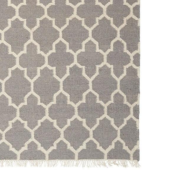 Sivý ručne tkaný vlnený koberec Linie Design Arifa, 160x230cm