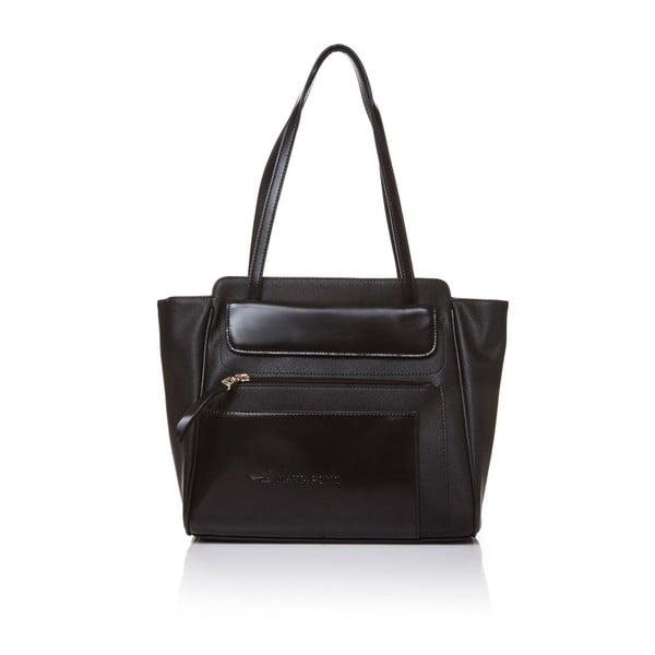 Kožená kabelka cez rameno Marta Ponti Zippy, čierna