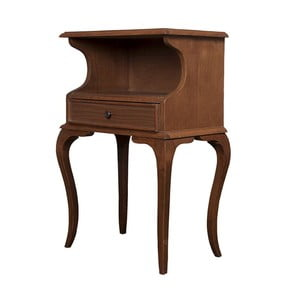 Odkladací stolík Herman Walnut, 48x31x75 cm