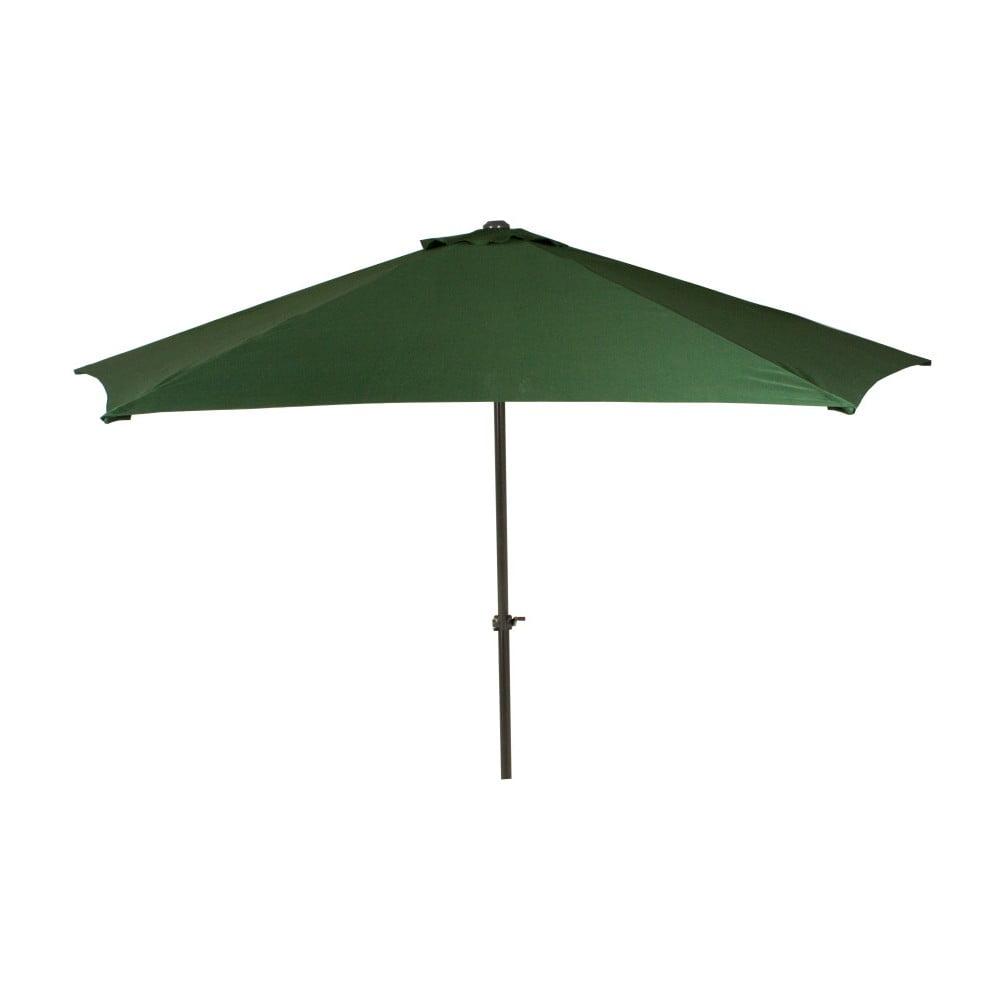 Tmavozelený záhradný slnečník ADDU Parasol, Ø 300 cm