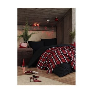 Ľahká prikrývka na posteľ Irina Red, 200×240 cm