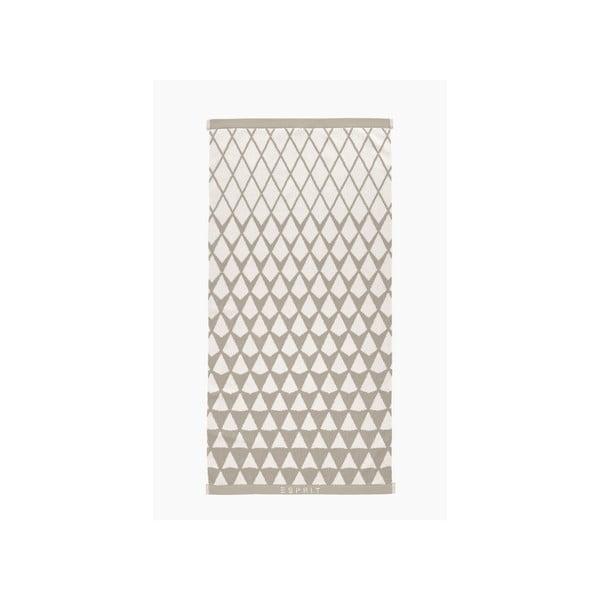 Svetlohnedý vzorovaný uterák Esprit Mina, 50x100cm