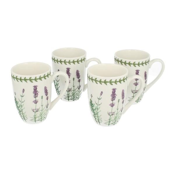 Set 4 porcelánových hrnčekov Lavender
