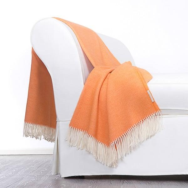 Vlnená prikrývka Liverpool 130x180 cm, oranžová