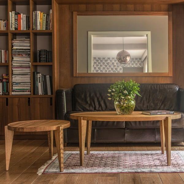 Dubový kávový stolík Bontri, 90x44 cm