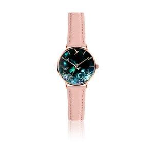 Dámske hodinky s ružovým remienkom z pravej kože Emily Westwood Dream