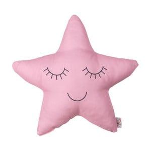 Ružový detský vankúšik s prímesou bavlny Apolena Pillow Toy Star, 35 x 35 cm