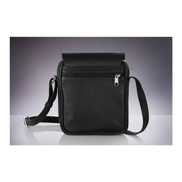 Pánska kožená taška Solier SL32, čierna