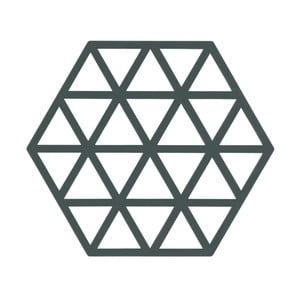 Sivozelená podložka pod horúce nádoby ZONE Triangles