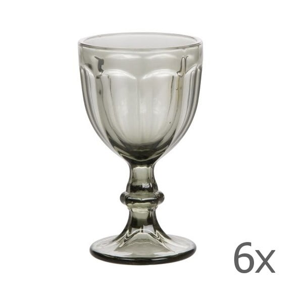 Sada 6 pohárov Calici Vino Grey