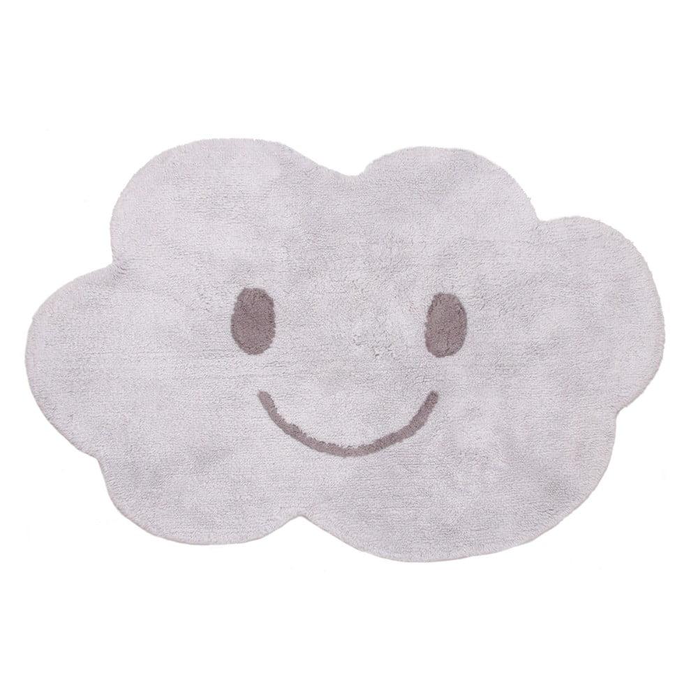 Detský sivý koberec Nattiot Nimbus, 75 × 115 cm