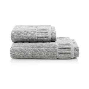 Set sivej osušky a uteráka z bavlny Maison Carezza Amelia
