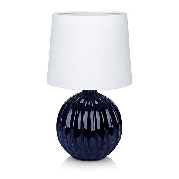 Modro-biela stolová lampa Markslöjd Melanie