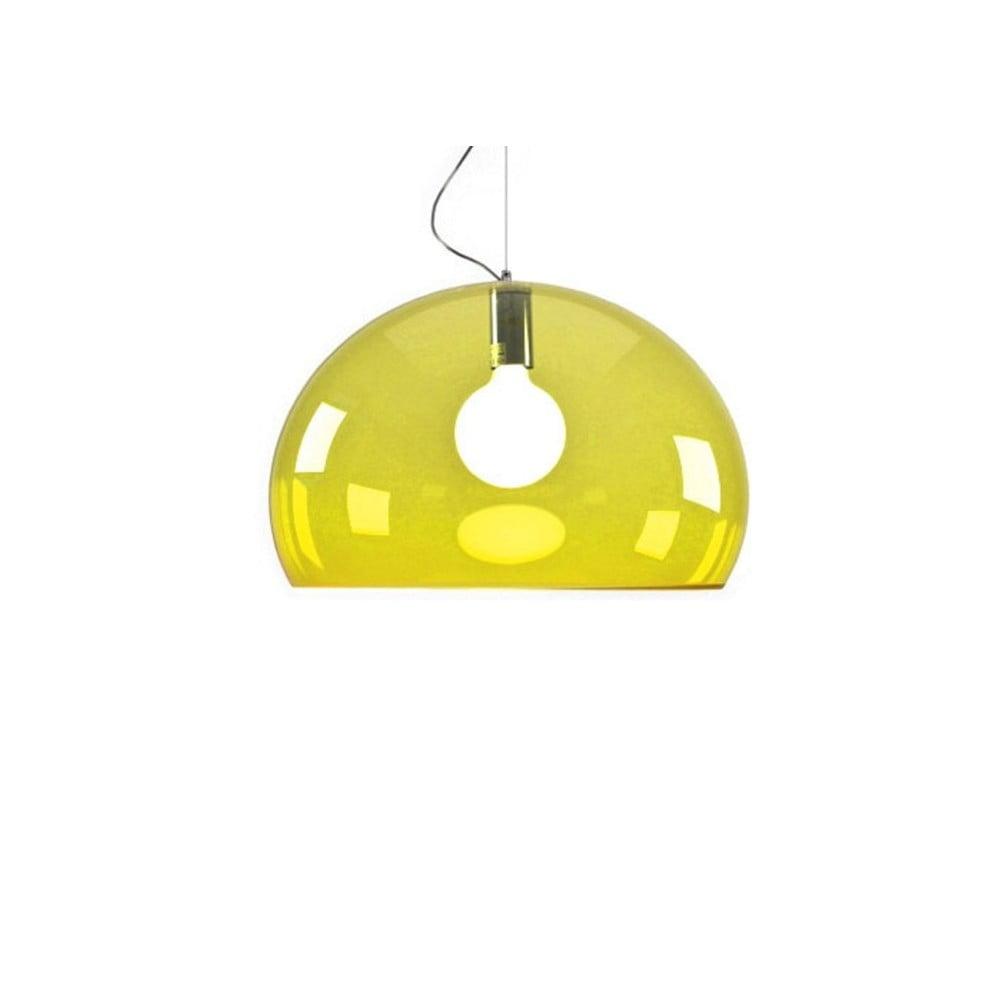 Žlté stropné svietidlo Kartell Fly, ⌀ 52 cm