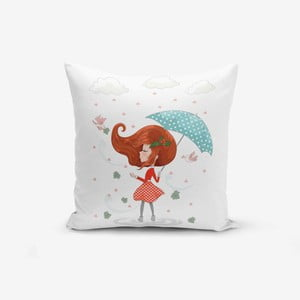 Obliečka na vankúš Minimalist Cushion Covers Girl With Umbrella, 45 × 45 cm