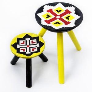 Sada 2 ručne maľovaných stoličiek Luna