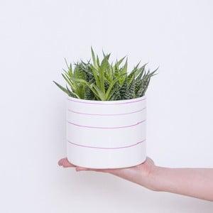 Kvetináč Pink Stripes, 13,5 cm
