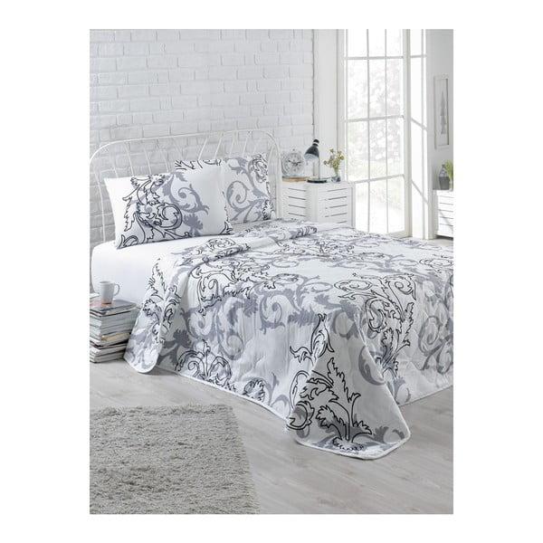 Set prikrývky na dvojlôžko a 2 obliečok na vankúše Tom, 200 × 220 cm