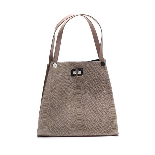 Béžová kožená kabelka Federica