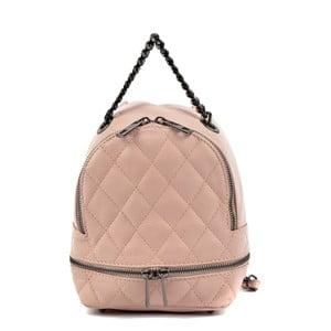 Svetloružový kožený dámský batoh Roberta M Musillo
