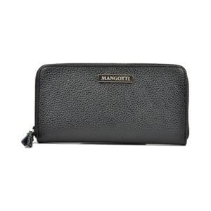 Čierna kožená peňaženka Mangotti Bags Flora