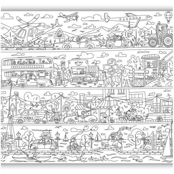 Maľovanky Creative Gifts Dobrodružstvo s autami