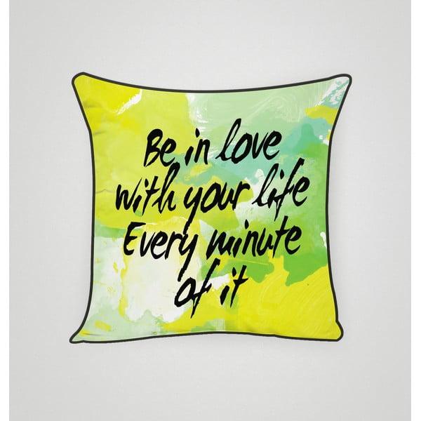 Obliečka na vankúš In Love With Life, 45x45 cm