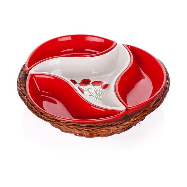Misa v košíku Banquet Red Poppy, 23 cm