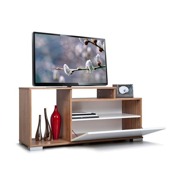 Televízny stolík Nesta, biely/samba