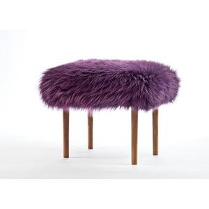 Stolička z ovčej kože Ceri Aubergine