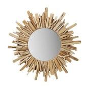 Okrúhle nástenné zrkadlo Kare Design Legno, Ø 58 cm