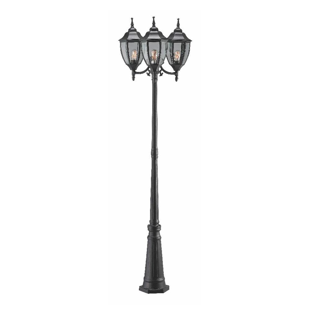 Čierne tyčové svietidlo s 3 žiarovkami Markslöjd Jonna, ø 60 cm