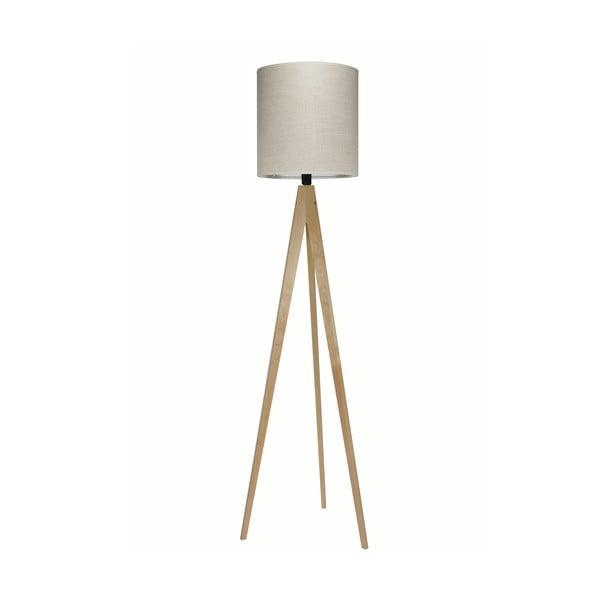 Stojacia lampa Artist Grey Linnen/Birch, 125x33 cm