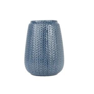 Veľká modrá váza Present Time Knitted