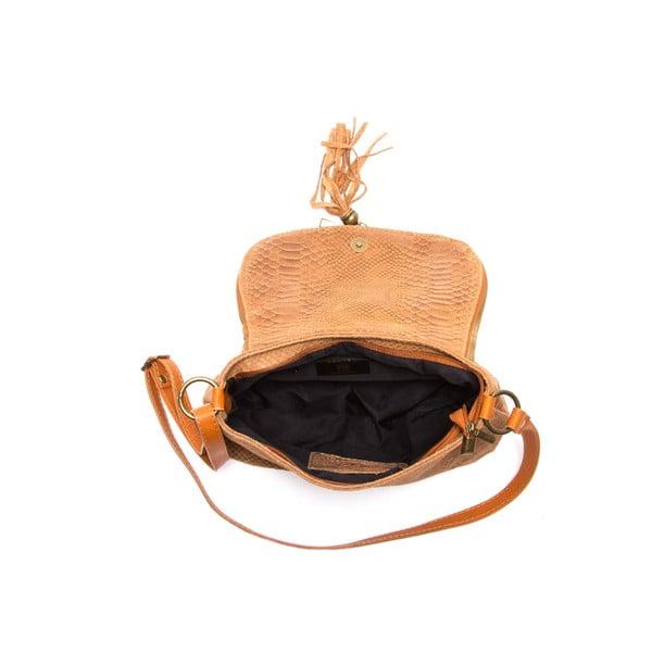 Hnedá kožená kabelka Sofia Cardoni Rosetta