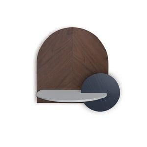 Hnedo-sivá modulárna trojdielna polica Woodendot Alba L