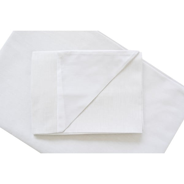Biele obliečky Hawke & Thorn Parker Simple, 150 x 200 cm + vankúš 50 x 60 cm